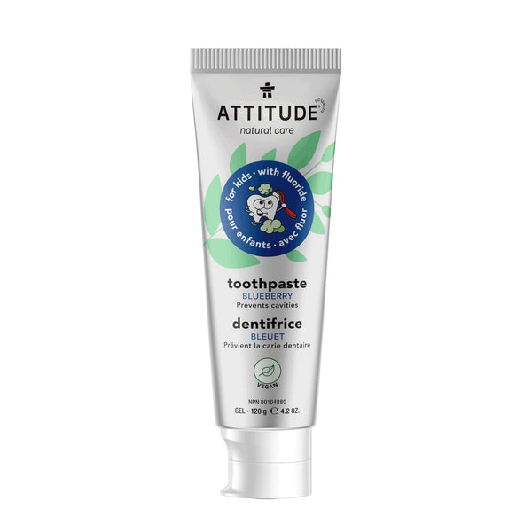 ATTITUDE Natural Toothpaste with fluor for kids - Blueberry_en?_main?