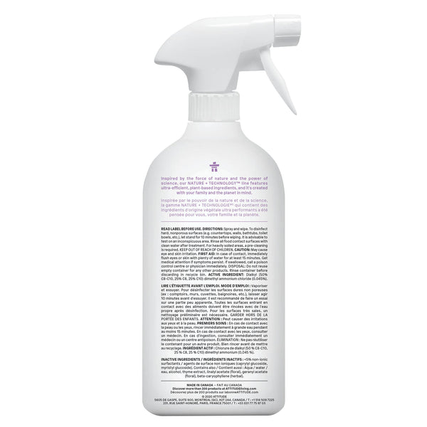 ATTITUDE Nature+ All Purpose Cleaner Disinfectant 99.9% Thyme & Lavender_en? _hover?