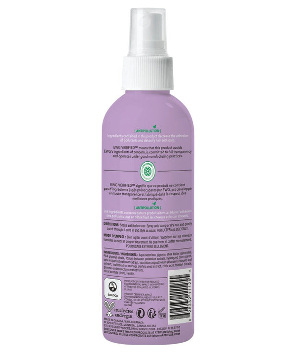 Kid Hair Detangler hypoallergenic, Vanilla & Pear back of the bottle_en?_hover?