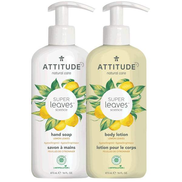 Liquid Hand Soap + Body Lotion Bundle  Lemon Leaves _en? _main?
