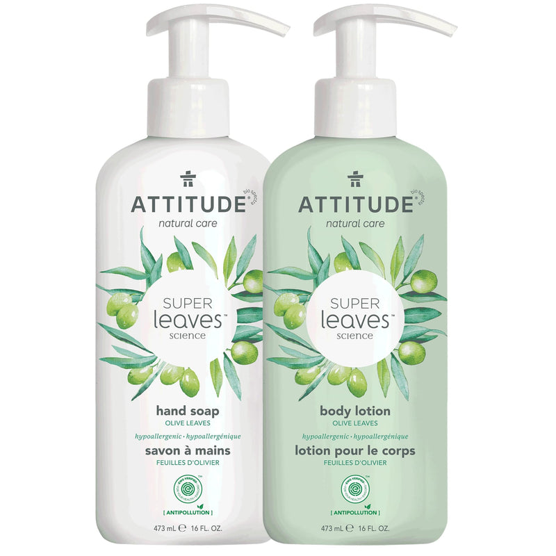 ATTITUDE Super Leaves™ - Bundle Liquid Hand Soap + Body Lotion - Olive Leaves_en?_main?