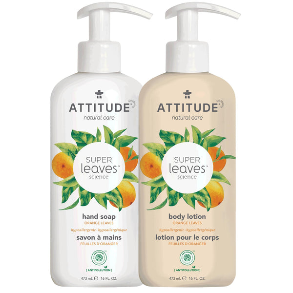 ATTITUDE Super Leaves™ - Bundle Liquid Hand Soap + Body Lotion - Orange Leaves_en?_main?