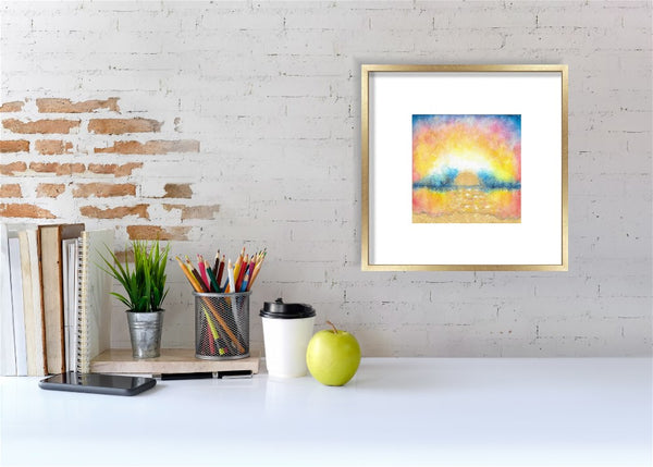 Sunrise Original Painting: Turquoise Waters 1