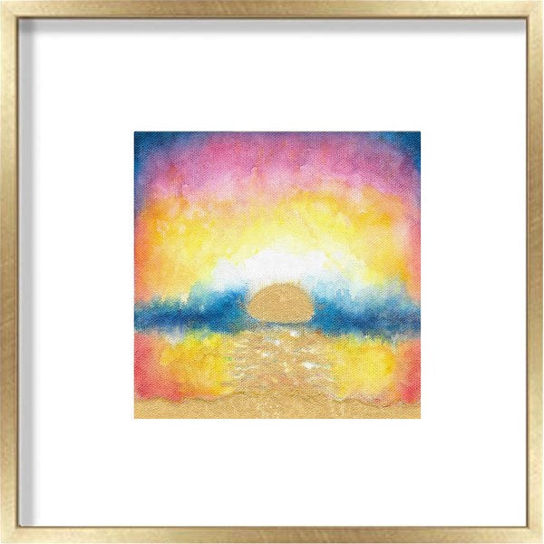 Sunrise Original Painting: Turquoise Waters 2