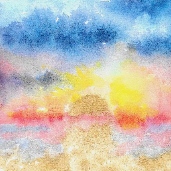 Sunrise Watercolor Study: The Blues Have It 2