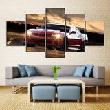 5 Piece Canvas Art Red Z28