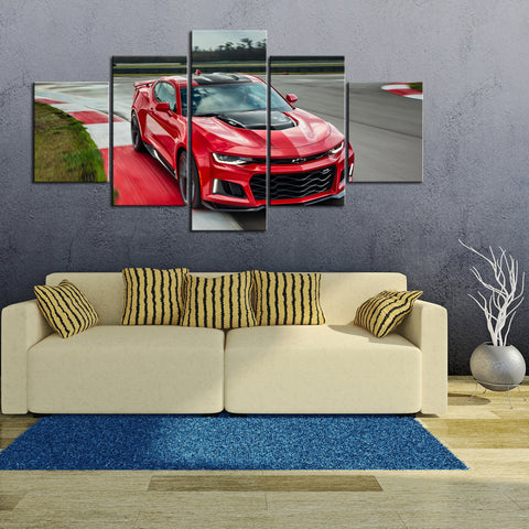 5 Piece Canvas Art Red ZL1 Close Up