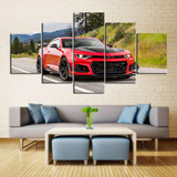 5 Piece Canvas Art Red ZL1 1LE
