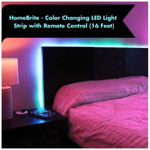 HomeBrite LED Color Changing Light Strip with Remote Control