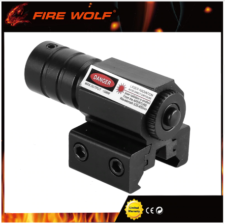 FIRE WOLF 650-100M Range Red Dot Laser Sight with Adjustable 11mm - 20mm Rail
