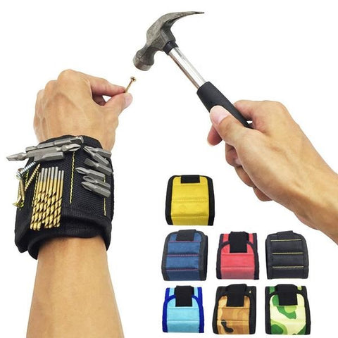 Magnetic Wristband for Holding Screws, Nails, and Drill Bits
