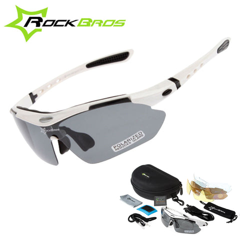 Hot! RockBros Polarized Cycling Sunglasses with 5 Lens