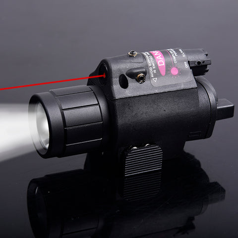 Compact CQB Torhc 600 LUM Flashlight with Red Dot Laser Sight for 20mm Rail