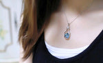 Popular Love Drift Bottles with Blue Heart Crystal Pendant Necklace