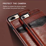 Vertical Flip Card Holder Leather Case for iPhone