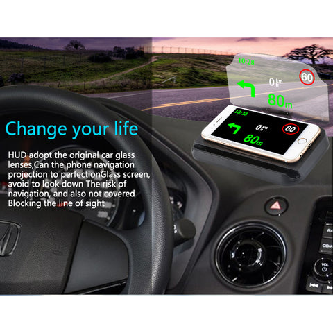 HUD Windscreen Projector Heads Up Display for GPS Navigation