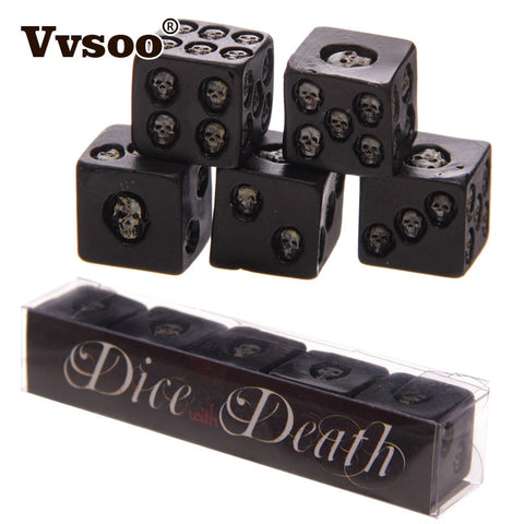 Black Skull 5Pc Dice Set