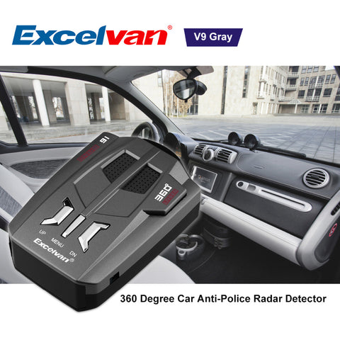Vehicle Radar Detector 360 Degree 16 Band with Voice Alert Warning