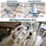 Fisheye WIFI Bulb 360 Degree 3D CCTV Panoramic Wireless IP Camera with LED Light