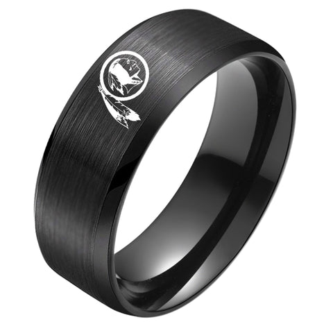 NFL Washington Redskins Black Titanium Ring