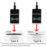 Qi Wireless Charger Receiver for iPhone and Micro USB Type A/B