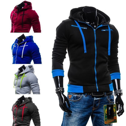 Fashion Cardigan Men's Zip Hoodie Jacket