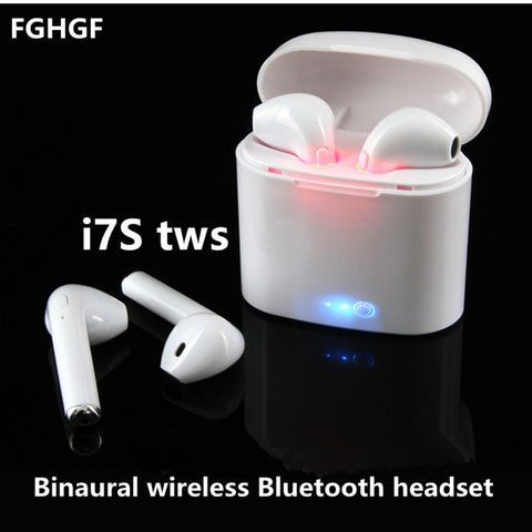 i7S TWS Wireless Bluetooth Stereo Earbud Headset with Charging Box and Mic for iOS and Android