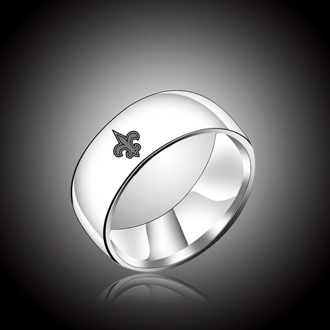 NFL New Orleans Saints Titanium Ring