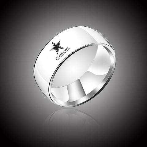 NFL Dallas Cowboys Titanium Ring