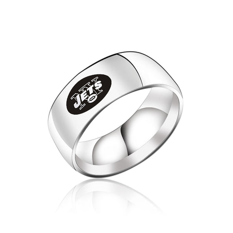 NFL New York Jets Titanium Ring