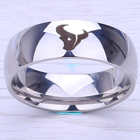 NFL Houston Texans Titanium Ring