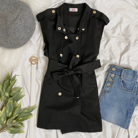 Tangie Sleeveless Trench Coat