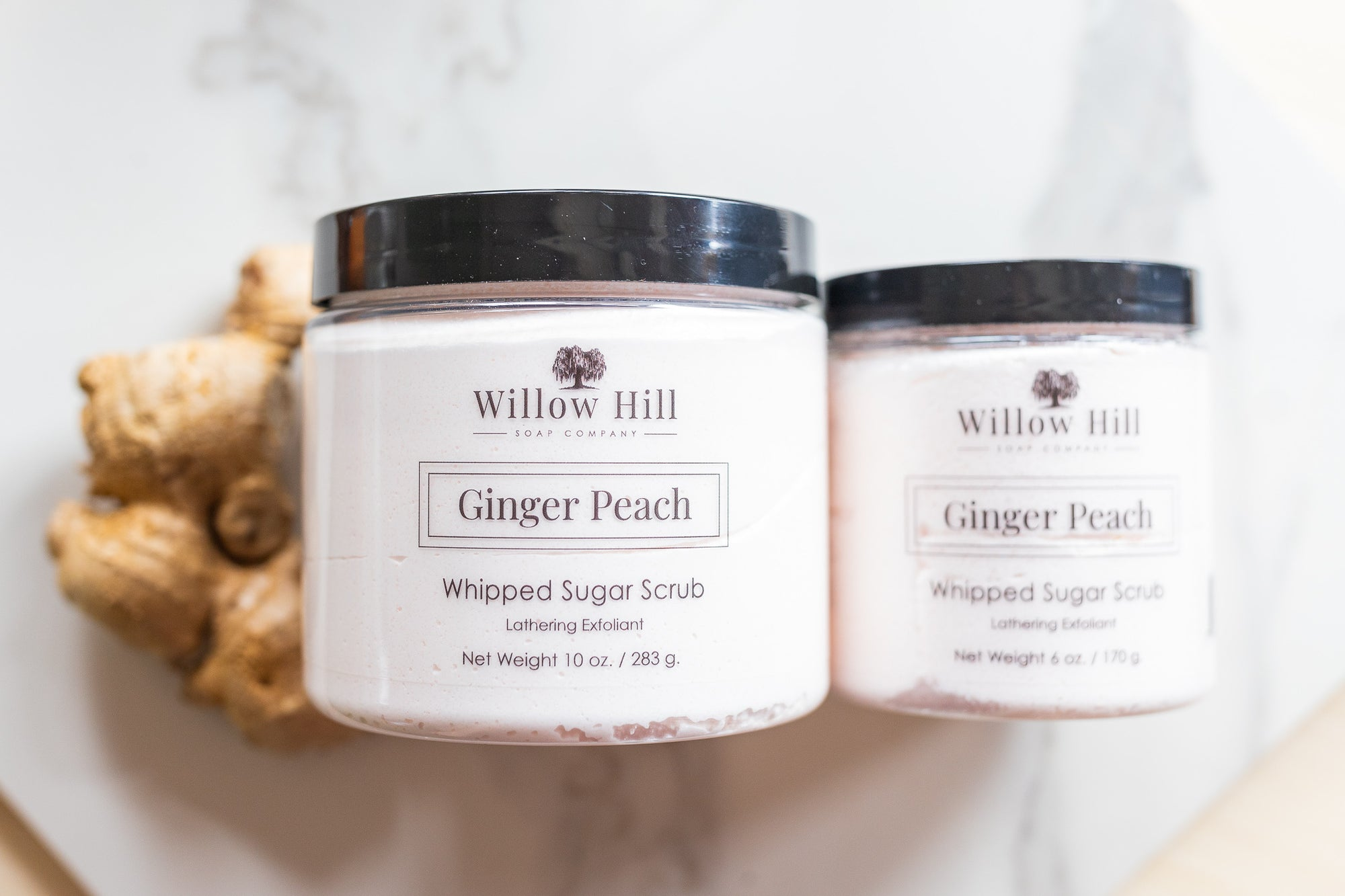 Ginger Peach Whipped Sugar Scrub