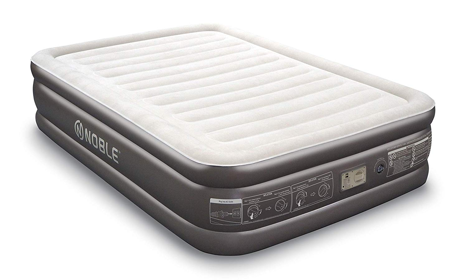 reputable site 722f9 9c7be Noble QUEEN SIZE Comfort DOUBLE HIGH Raised Air Mattress ...