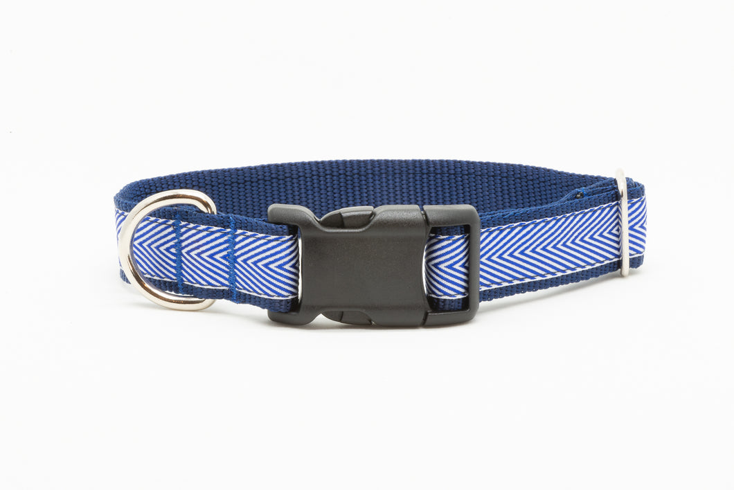 Blue Chevron Standard Collar