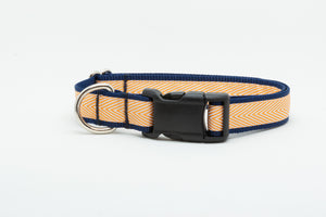 Orange Chevron Standard Collar