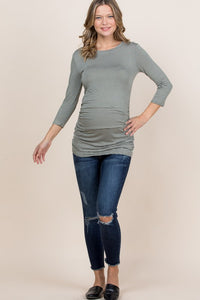 Stunning in Stripes- Maternity Top (Olive)