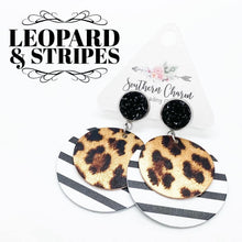 Load image into Gallery viewer, Leopard & Stripes Earrings