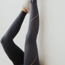 Load image into Gallery viewer, Alpine Laser Cut Leggings- Steel Blue
