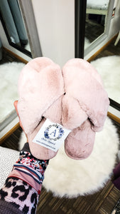Famous Fuzzy Slippers- Multiple Colors