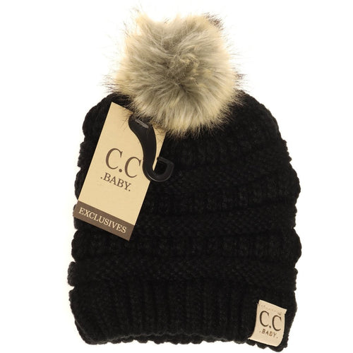 C.C BABY Pom Beanie- Multiple Colors