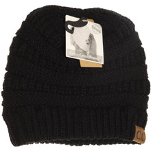 Load image into Gallery viewer, C.C Criss Cross Ponytail Beanie- Multiple Colors