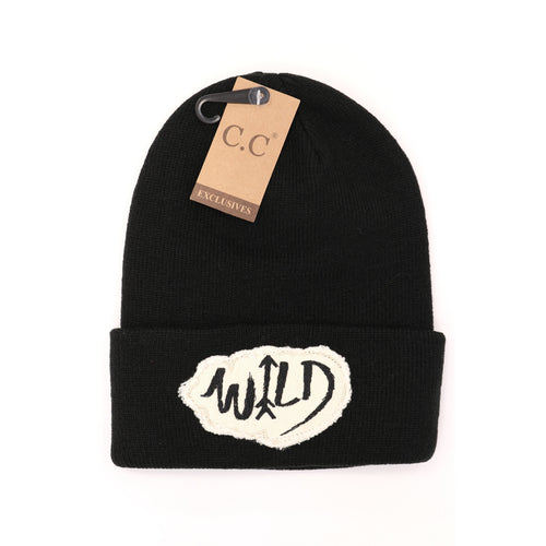 Wild Patch Solid C.C Beanie