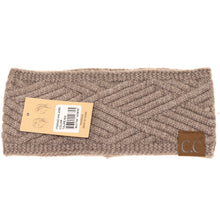 Load image into Gallery viewer, C.C Diamond Knit Headwrap- Multiple Colors
