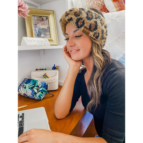 Leopard Headwrap- Multiple Colors