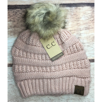 $10 SALE C.C Classic Pom Beanie- Multiple Colors