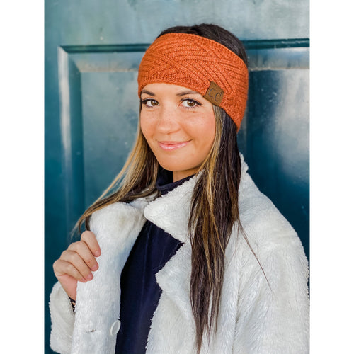 C.C Diamond Knit Headwrap- Multiple Colors