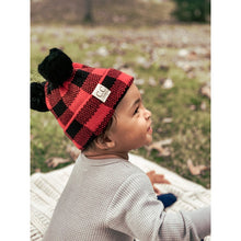 Load image into Gallery viewer, BABY C.C Buffalo Plaid Pom Beanie- Multiple Colors