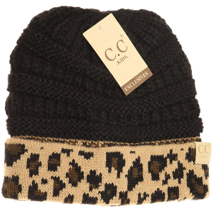 KIDS C.C Leopard Beanie- Multiple Colors