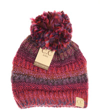 Load image into Gallery viewer, KIDS C.C Multi-Color Pom Beanie- 3 Colors